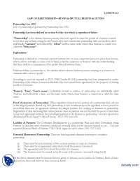 Law of Partnership Part 1-Business and Labour Law-Lecture Handout