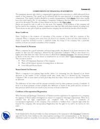 Financial Statment-Financial Accounting-Lecture Handout
