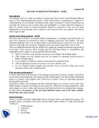 ROBI-Brand Management-Lecture Handout