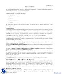 Free Consent-Business and Labour Law-Lecture Handout