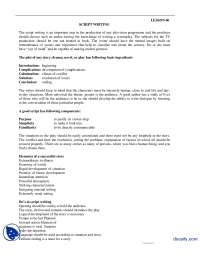 Scriptwriting-Reporting and Production-Handouts