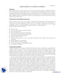 Characteristics of Good Mission Statements-Strategic Management-Lecture Handout