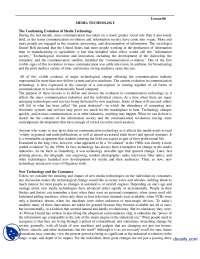 Media Technology-Media Managment-Handouts