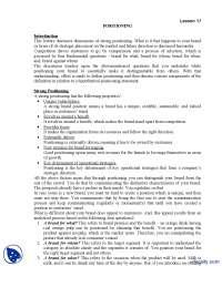Positioning Part 1-Brand Management-Lecture Handout