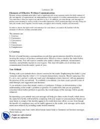 Elements of Effective Written Communication Part 1-Communication Skills-Lecture Handout