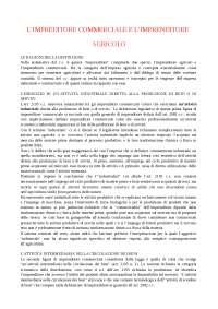 Appunti di Diritto Commerciale - l'imprenditore commerciale e l'imprenditore agricolo