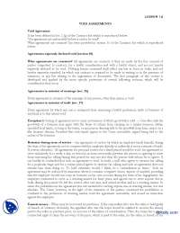 Void Agreement-Business and Labour Law-Lecture Handout