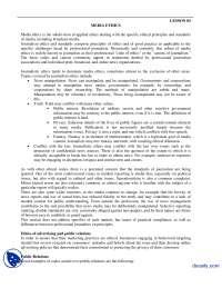 Media Ethics-Media Managment-Handouts