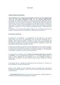 Poblaciónes biológicas - Apuntes - Ecología