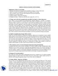Implications of Kurt Lewin Model-Change of Management-Lecture Handout