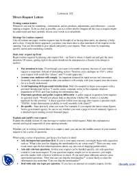 Direct Request Letters Part 1-Communication Skills-Lecture Handout