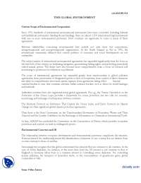 The Global Enviroment part 2-International Relations-Lecture Handout