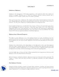 Diplomacy Lesson 10-International Relations-Lecture Handout