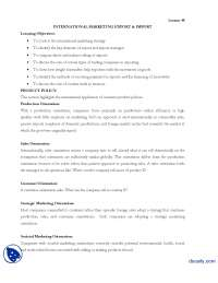 International Marketing Lesson 44-International Business-Lecture Handout
