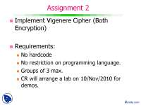 Vigenere Cipher-Computer Security-Assignment