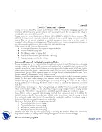 Conceptual Framework for Coping Strategies and Styles-Sports Psycology-Lecture Handout