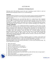 Introduction to Marketing Research-Marketing Research-Lecture Handout