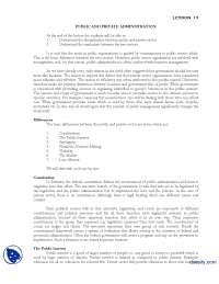 Public and Private Administration-Introduction to Public Administration-Lecture Handout