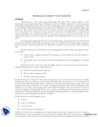 Al-Ghazali-History of Psycology-Lecture Handout