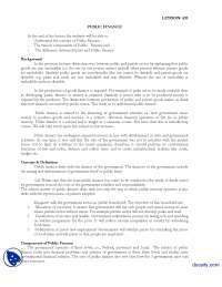 Public Finance-Introduction to Public Administration-Lecture Handout, Exercises for Introduction to Public Administration