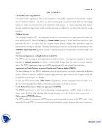 GATT and WTO Lesson 30-International Business-Lecture Handout