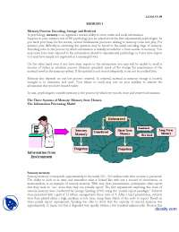 Memory Part 1-Experimental Psycology-Lecture Handout