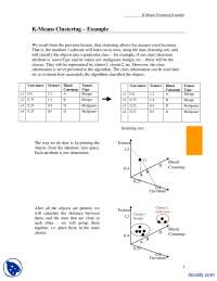 K Means Clustering-Data Warehouse-Lecture Handout