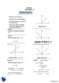 Graphs of Functions-General Mathematics-Lecture Handout