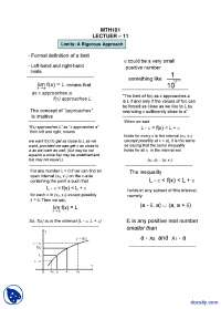 Limits A Rigorous Approach-General Mathematics-Lecture Handout