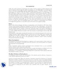 Physcopathic-Experimental Psycology-Lecture Handout