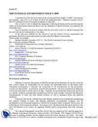 National Environment Policy-Globalization of Media-Lecture Handout