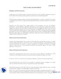 The Global Enviorment-International Relations-Lecture Handout