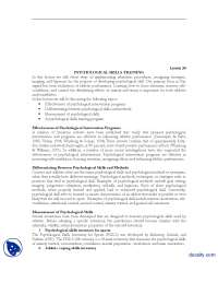 Effectiveness of Psychological Intervention Programs-Sports Psycology-Lecture Handout