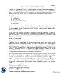 Description-Clinical Psycology-Lecture Handout