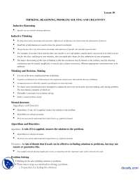 Problem Solving and Creativity-Introduction to Psycology-Lecture Handout