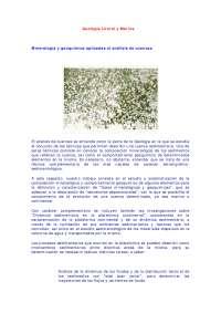 Geología Marina Mineralogía Y Geoquímica Aplicadas Al Análisis De Cuencas  -  Apuntes  -  Geología