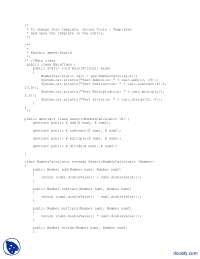 Generic Number Calculator-Java Programming-Lab Mannual