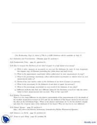 Estimates And Uncertainties-Classical Physics-Assignments