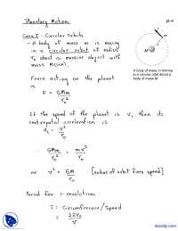 Planetary Motion-Physics-Lecture Notes