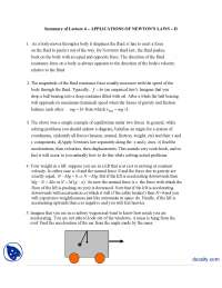 Applications Of Newton's Laws  II-Classical Physics-Handouts