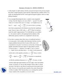 Oscillations II-Classical Physics-Handouts