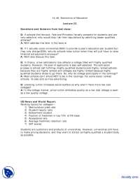 Questions and Answers from last class Part 1-Education Economics-Lecture Handout
