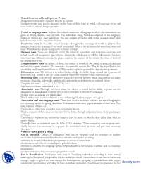 Classification Of Intelligence Tests I-Educational Psycology-Lecture Handouts