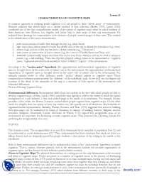 Characteristics Of Cognitive Maps-Environmental Psychology-Handout