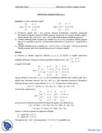 Signali i sistemi-Vezbe-Elektrotehnicki fakultet Osnovne osobine signala