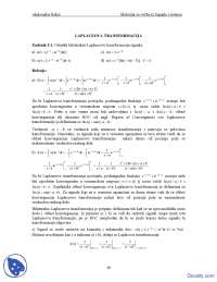 Signali i sistemi-Vezbe-Elektrotehnicki fakultet Laplaceova transformacija