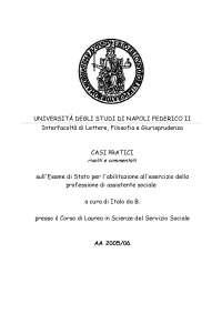 Esame di Stato - Casi pratici - Scienze Sociali