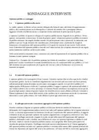Sondaggi e Interviste - Appunti di Tecniche Statistiche per l'Analisi di Dati Sociologici