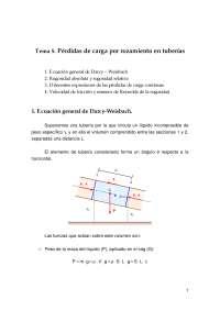 Pérdidas de carga por rozamiento en tuberías - Ecuación general - Apuntes - Ingeniería civil