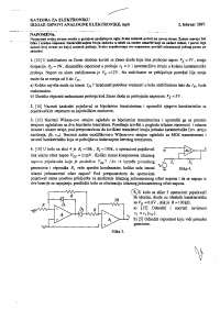 Osnovi analogne elektronike-Vezbe-Elektrotehnicki fakultet reseni zadaci i rokovi postavka